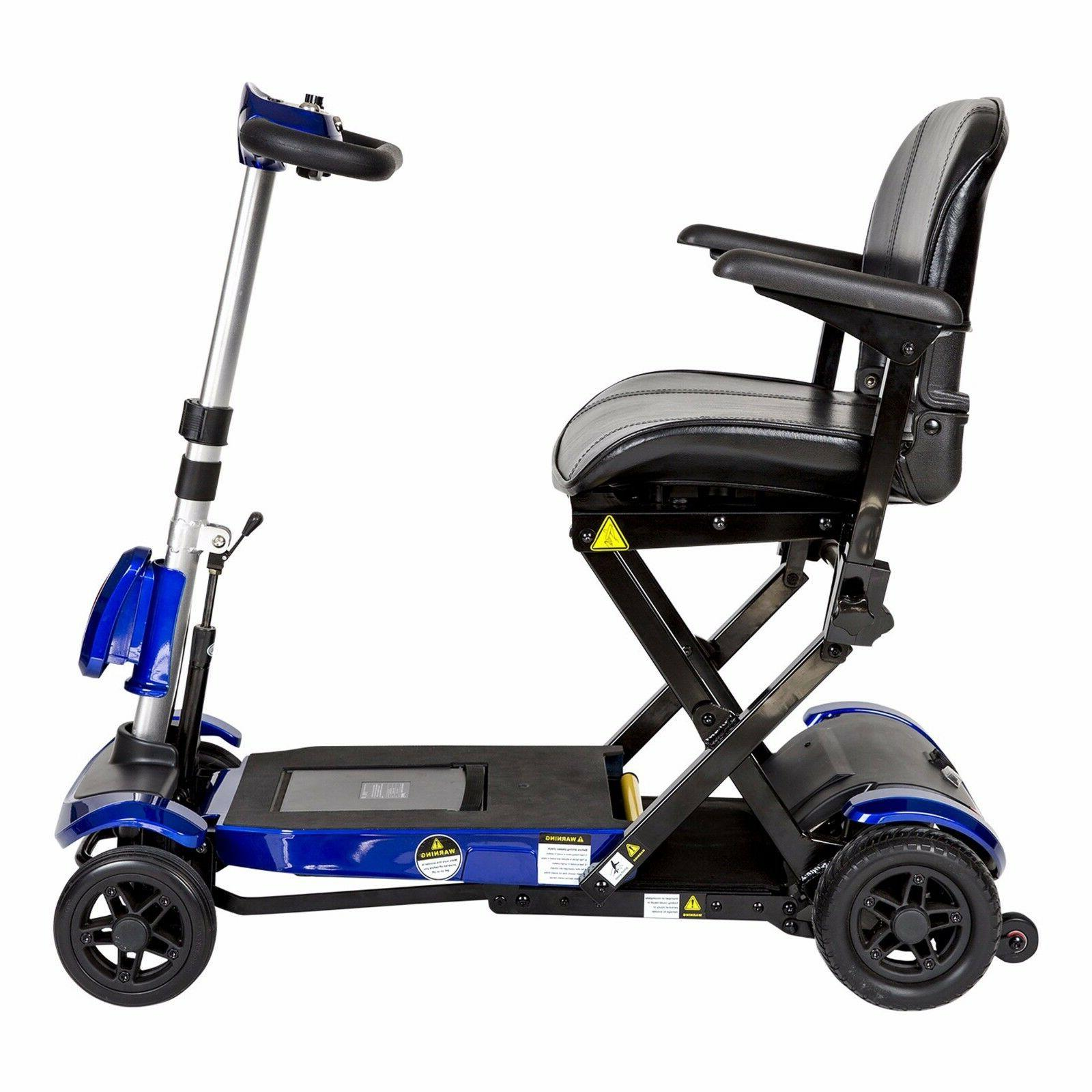 Drive Blue Electronically Self-Folding 4 Scooter, 300 lb