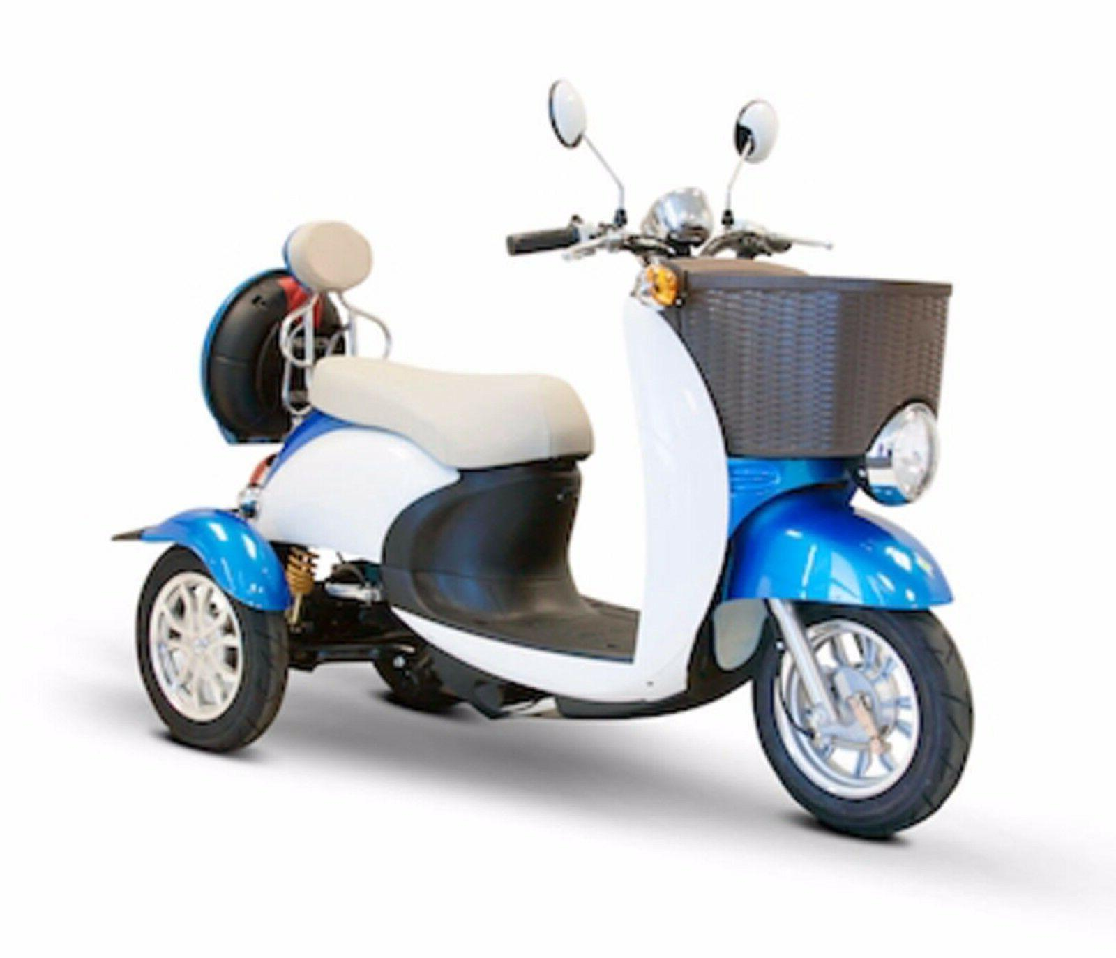Blue & White EWheels EW-11 Sport Electric Scooter, 3 Wheels,