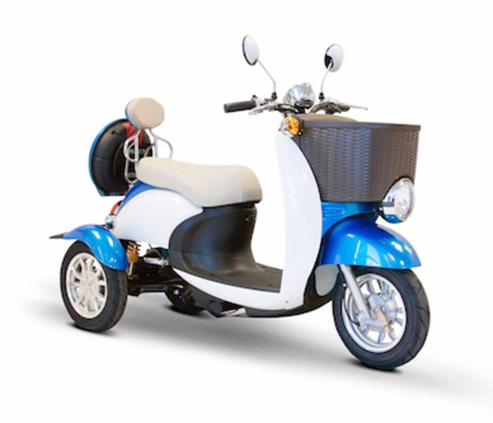Blue & White EWheels EW-11 Sport Electric Scooter, 3 Wheels,