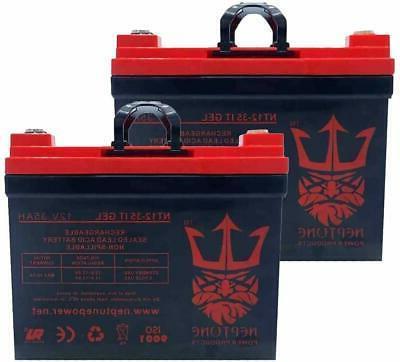 compatible 12v 35ah gel wheelchair battery