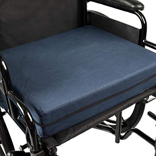 DMI Polyfoam Cushion, Standard Foam Seat Cushion for Chairs, Support, Comfort, Reduces and Navy, 4 x 16 x