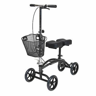 dual pad steerable knee walker
