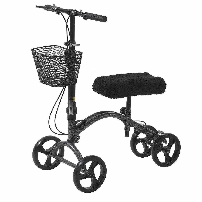 medical dv8 aluminum steerable knee walker crutch