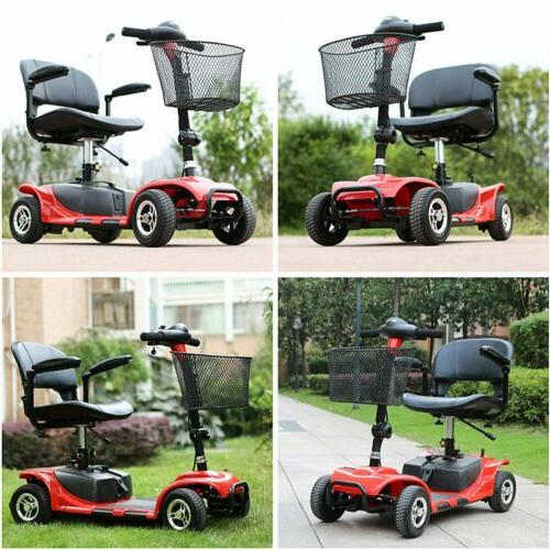 Electric/Hand push Folding Electric 4 Wheel Travel