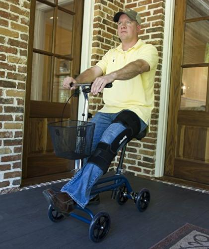 Evolution Steerable Mobility Walker Leg Crutches Alternative in Blue