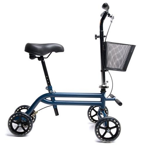 Evolution Steerable Seated Mobility Knee Walker Turning Leg Walker Alternative in Blue