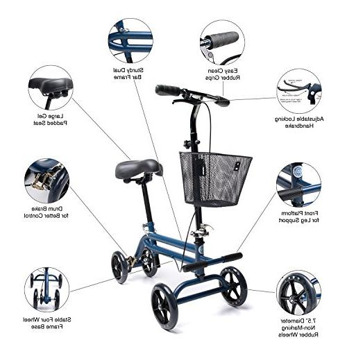 Evolution Steerable Leg Walker Crutches in Blue