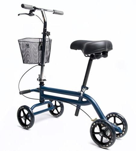 Evolution Steerable Seated Scooter Mobility Leg Crutches Alternative in