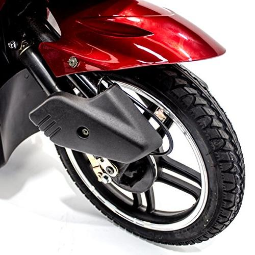 EWHEELS Elite Electric Mobility Scooter for Adults with RED, Challenger Mobility