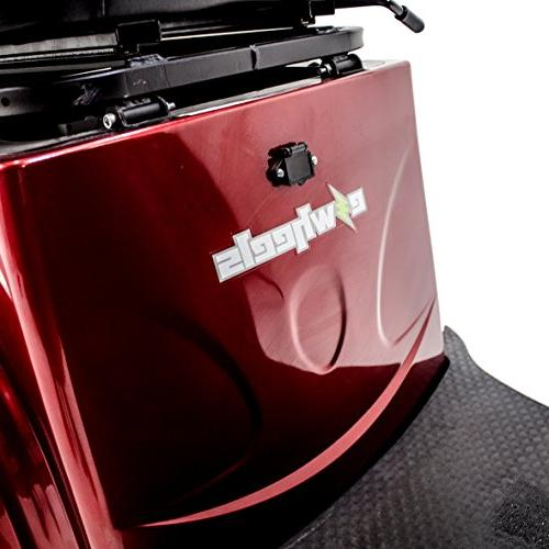 Challenger Mobility EW-36 Recreational Electric Mobility Range, Red, Accessories