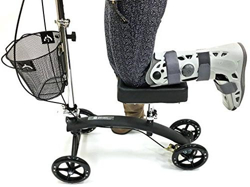 BodyMed Knee Walker With Dual and Great Alternative To - Scooter - Injury