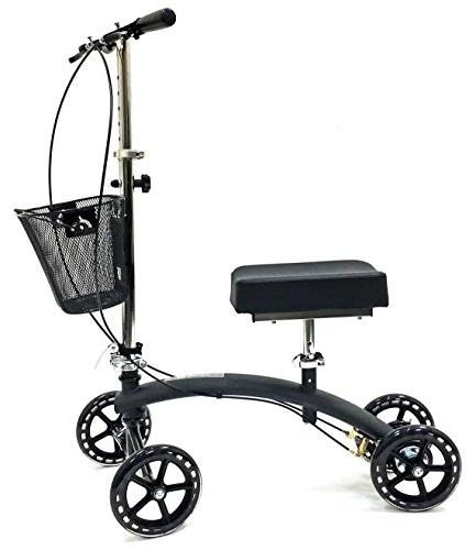 BodyMed Folding Knee Walker With and Basket Great - - Steerable Mobility For Injury