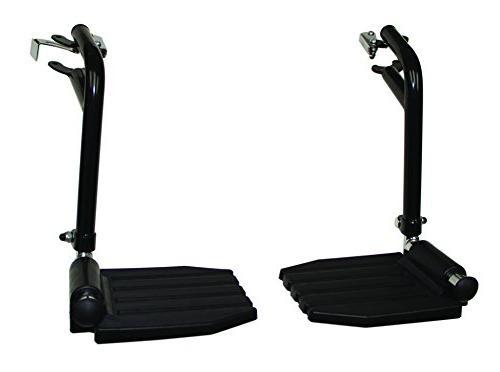frb412 1 pair top latch black footrest