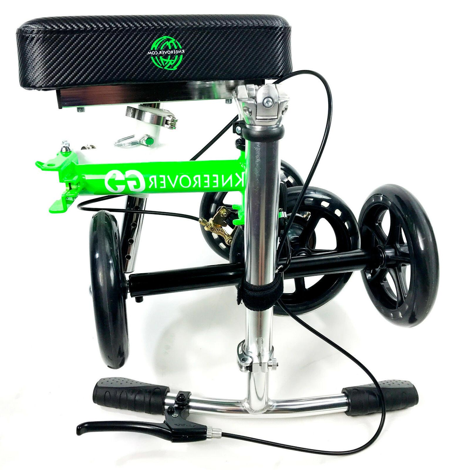 NEW KneeRover GO Knee Walker Compact & Scooter Crutches