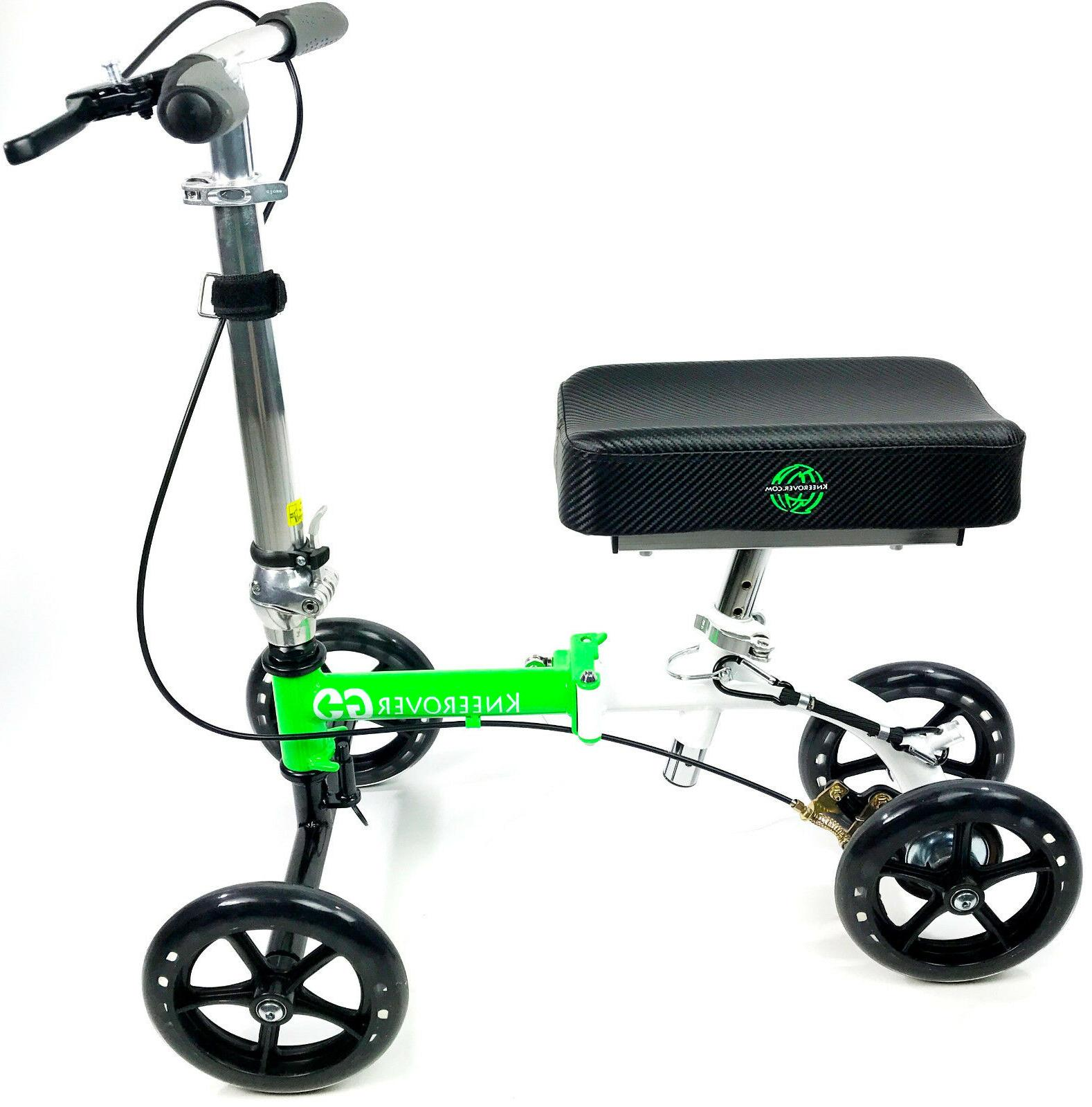 NEW KneeRover GO Knee Walker - Compact Scooter Crutches