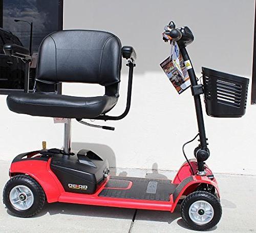 SC44X 4-Wheel Travel Scooter for Battery Pack, Rear Holder