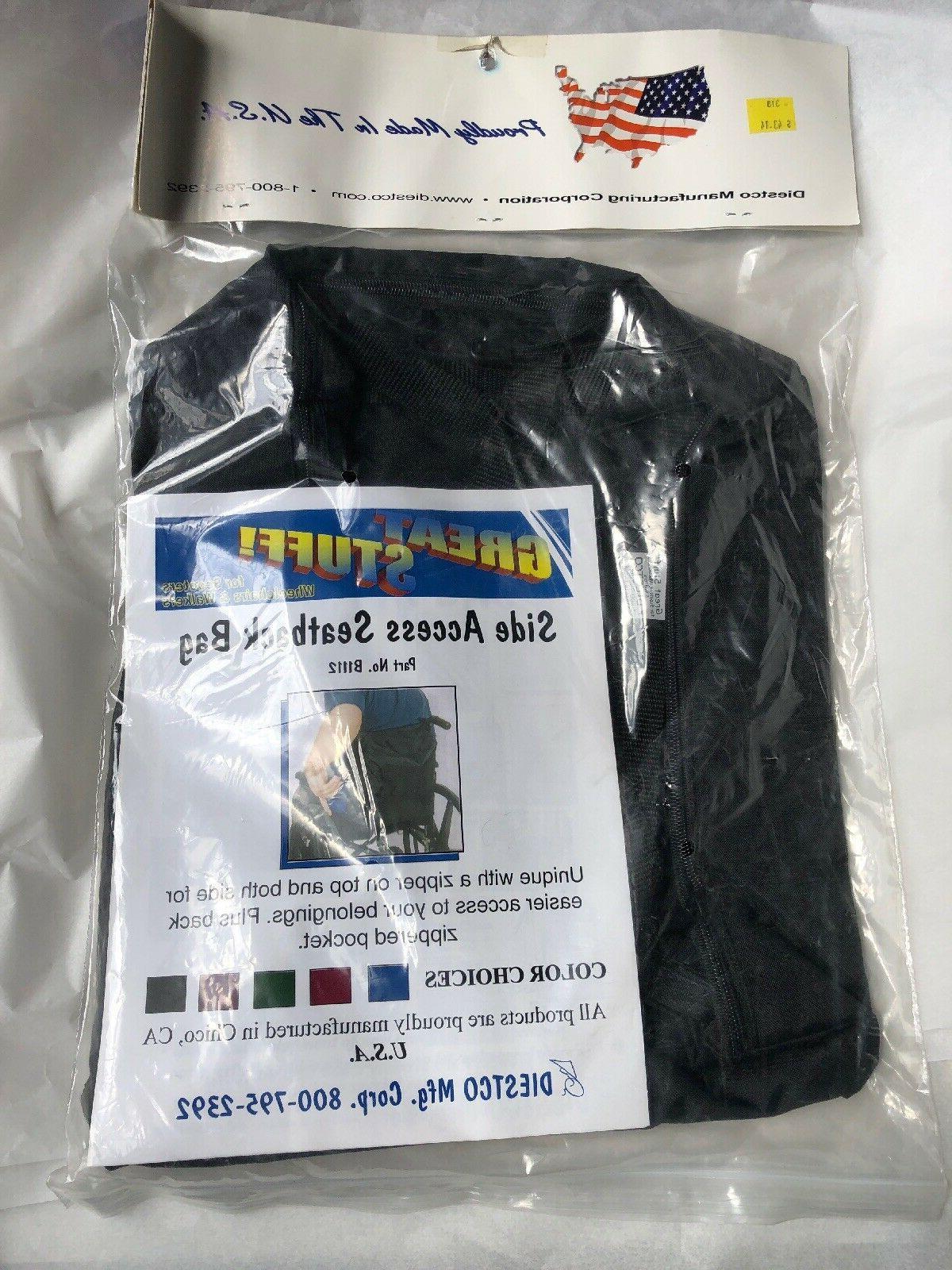 great stuff side access seatback bag