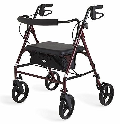 heavy duty bariatric mobility rollator