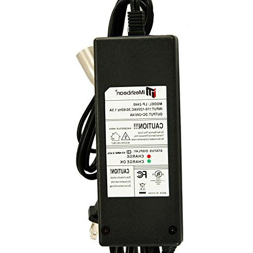 iMeshbean 24V 4A Battery Charger Jazzy GT Scooter Go-Go Scooters