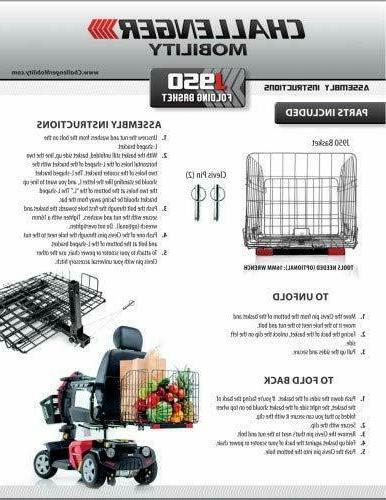 Challenger Mobility J950 Folding Rear Basket Mobility