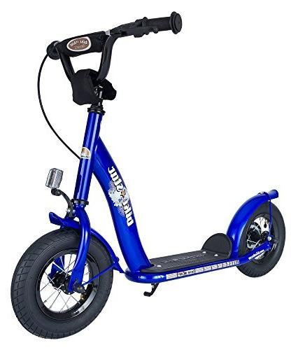 BIKESTAR Original Safety Pro Sport Kick Scooter Kids Mudguard and Tires Age 5 Year Old Children with Alloy Wheels 10 Inch | Adventurous