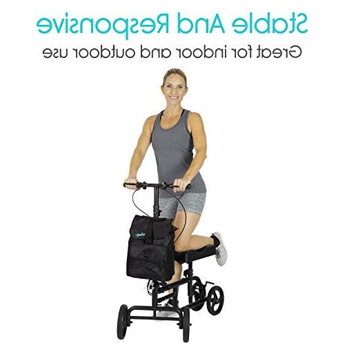 Vive Walker Steerable Leg, Foot, - Quad Cart - Orthopedic Pad For Adult Elderly 4 Wheel Caddy - Included