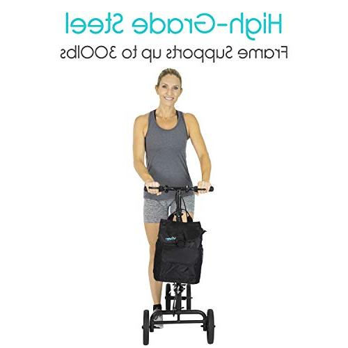 Steerable Scooter Leg, Foot, - Cart - Orthopedic Seat Pad Elderly Mobility 4 Caddy -