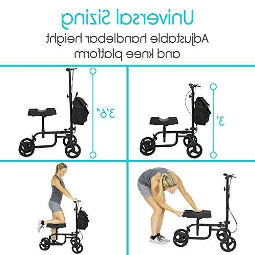 Vive Walker Steerable Scooter Leg, Foot, - Cart Pad and Elderly 4 Wheel -