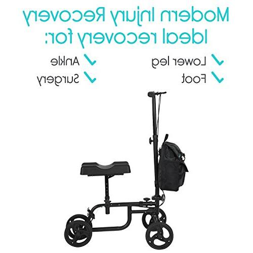 Vive Knee Steerable For Leg, Foot, - Kneeling Elderly Medical 4 Caddy Crutch - Bag