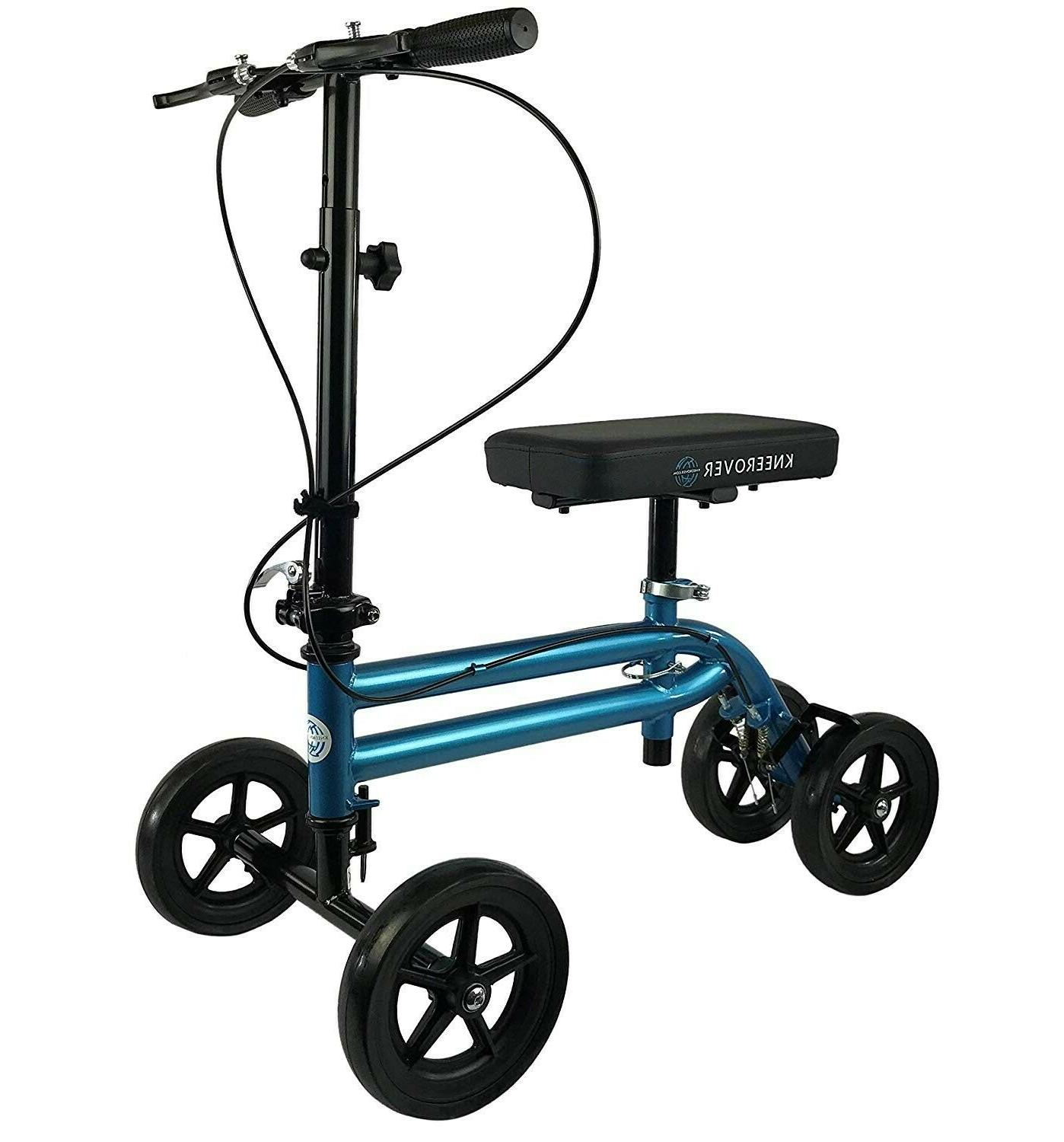 knee scooter walker steerable crutch alternative folding