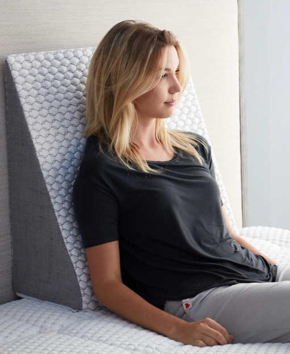 luxury wedge pillow with gel memory foam