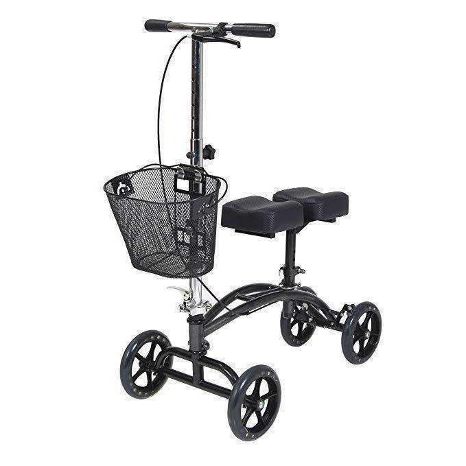 medical dual pad steerable knee walker