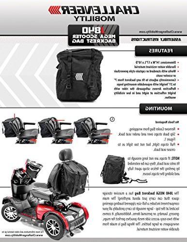 Challenger Backrest Seatback Storage Bag for wheelchair
