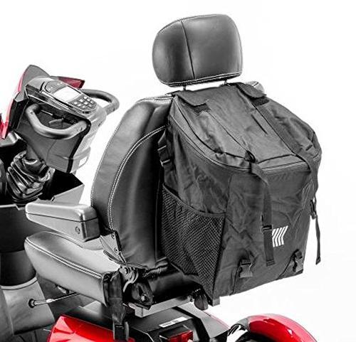 mega scooter backrest seatback storage