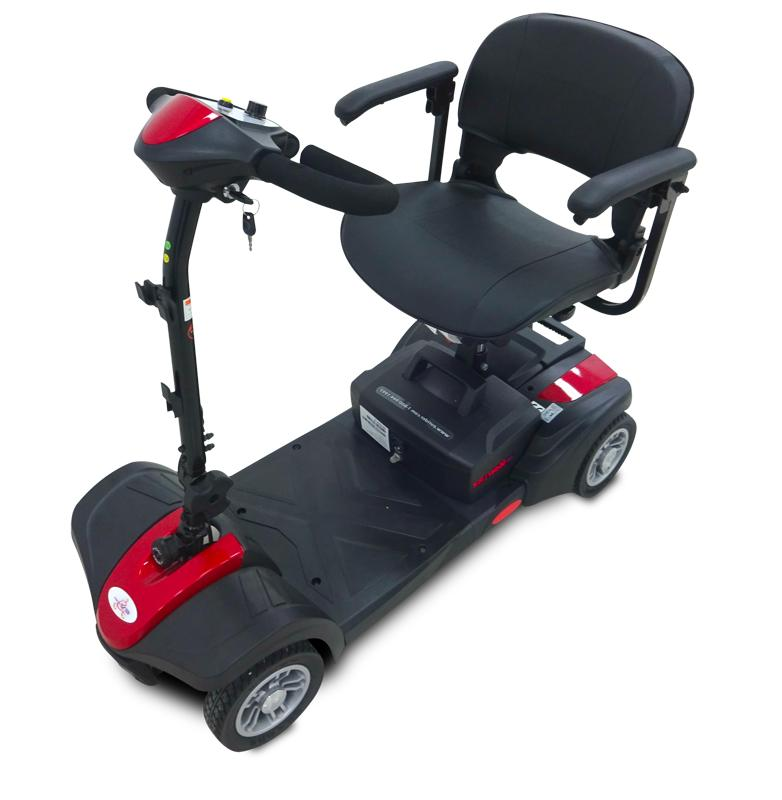 EV Power Mobility 4 Travel Compact Scooter - RED