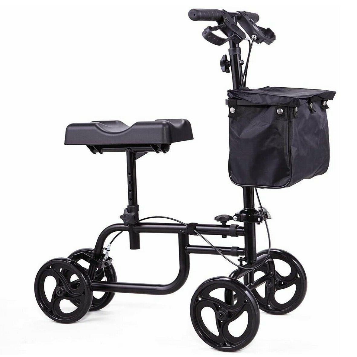 mobility equipment walker deluxe steerable cycle knee