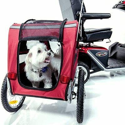 mobility pet carrier trailer for mobility scooters