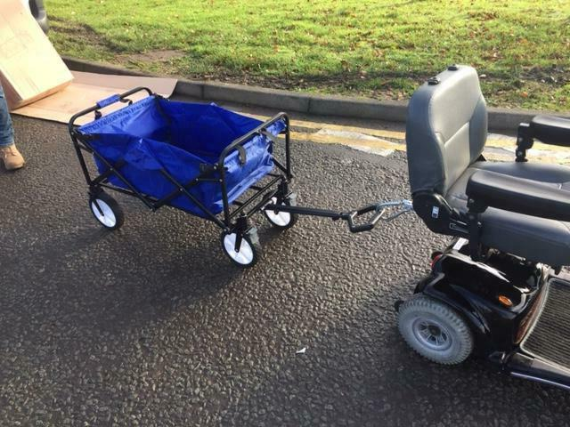Mobility Scooter Bar/Hitch with Trolley Cart 3 Colours
