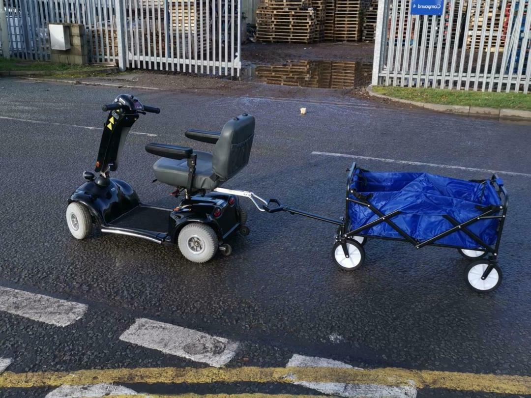 Mobility Scooter Trailer Tow Bar/Hitch with Shopping Trolley Cart