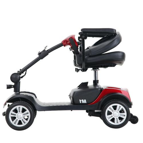 New Folding Electric Powered Mobility 4 Wheel Travel