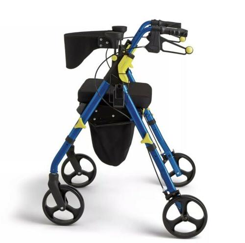 """NEW Medline Premium Empower Folding Mobility Rollator with 8"""""""