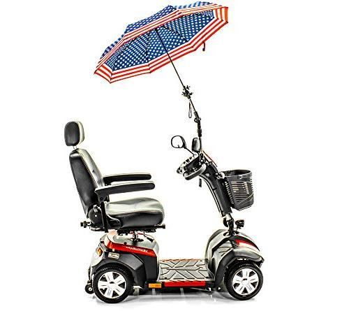 Patriotic Umbrella Holder J215 and Rain Protection many scooters, power chairs, walkers wheelchairs