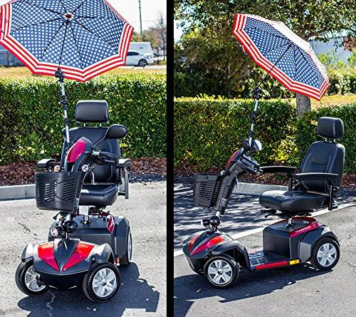 Patriotic Umbrella Assembly J215 and Rain Protection many scooters, power chairs, & wheelchairs