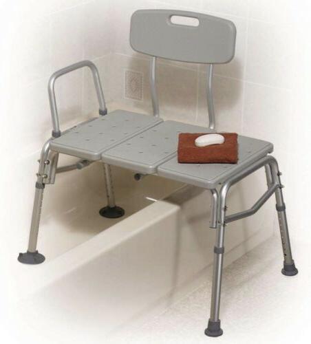 plastic tub transfer bench with adjustable backrest