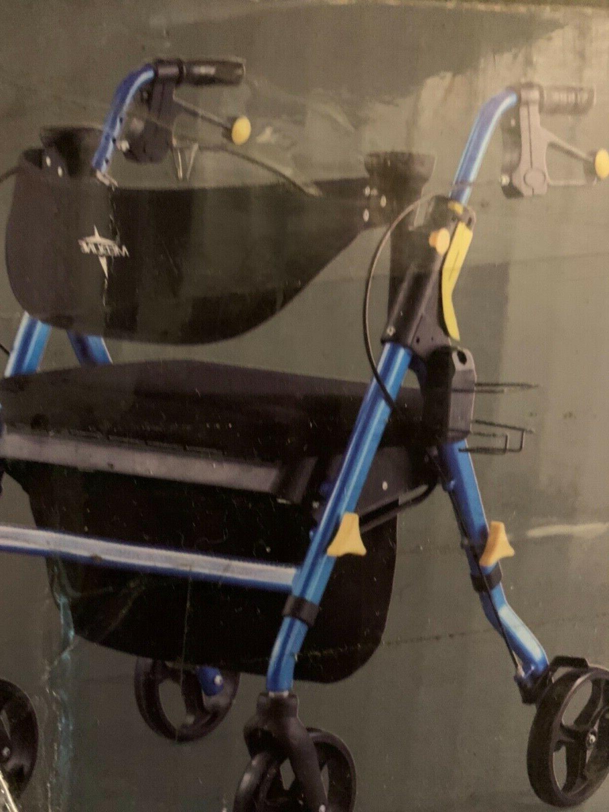 Medline Premium Empower Rollator with Wheels,