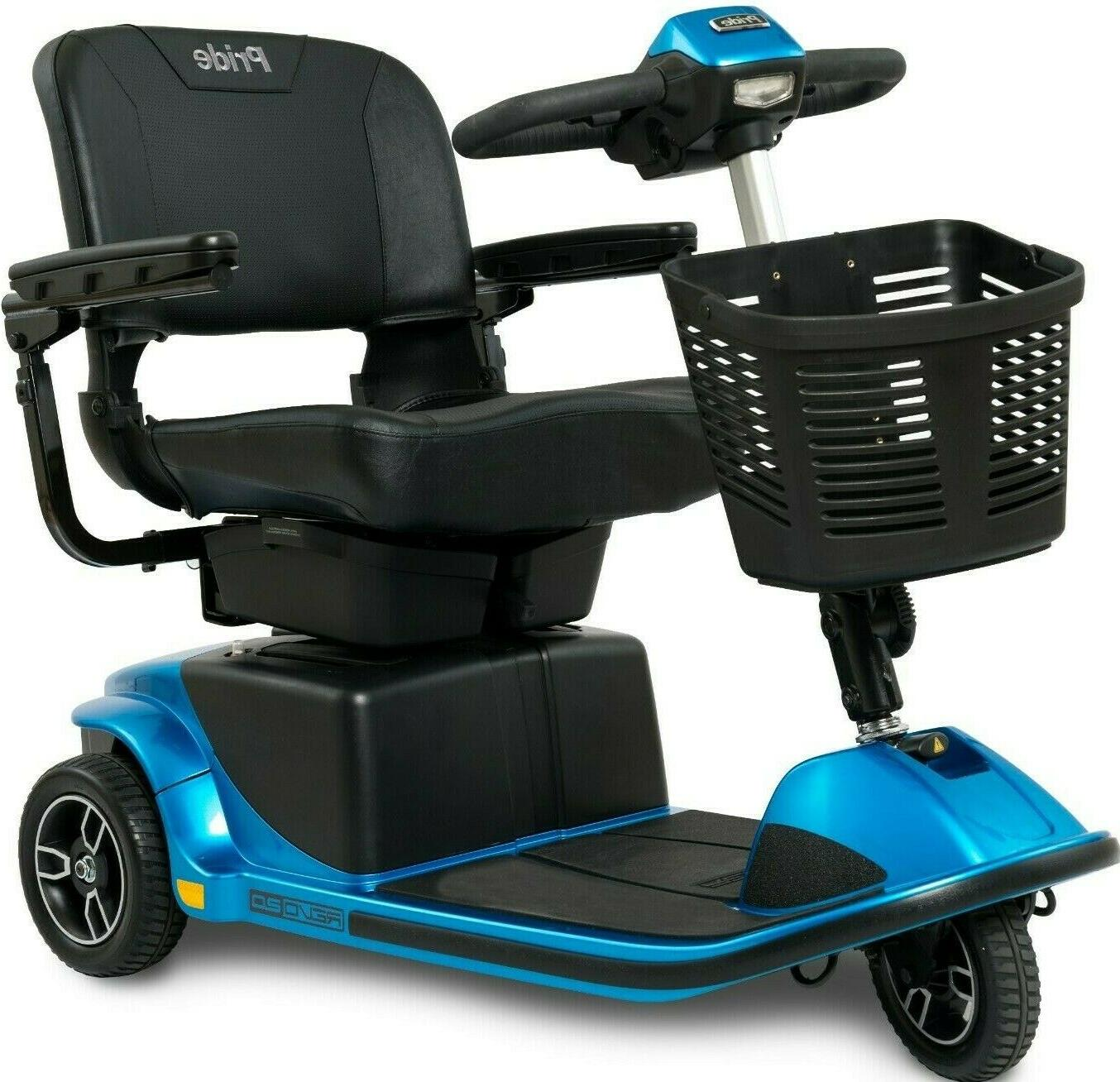 Pride 3W Power Scooter 375lbs. WC + Free Accessories