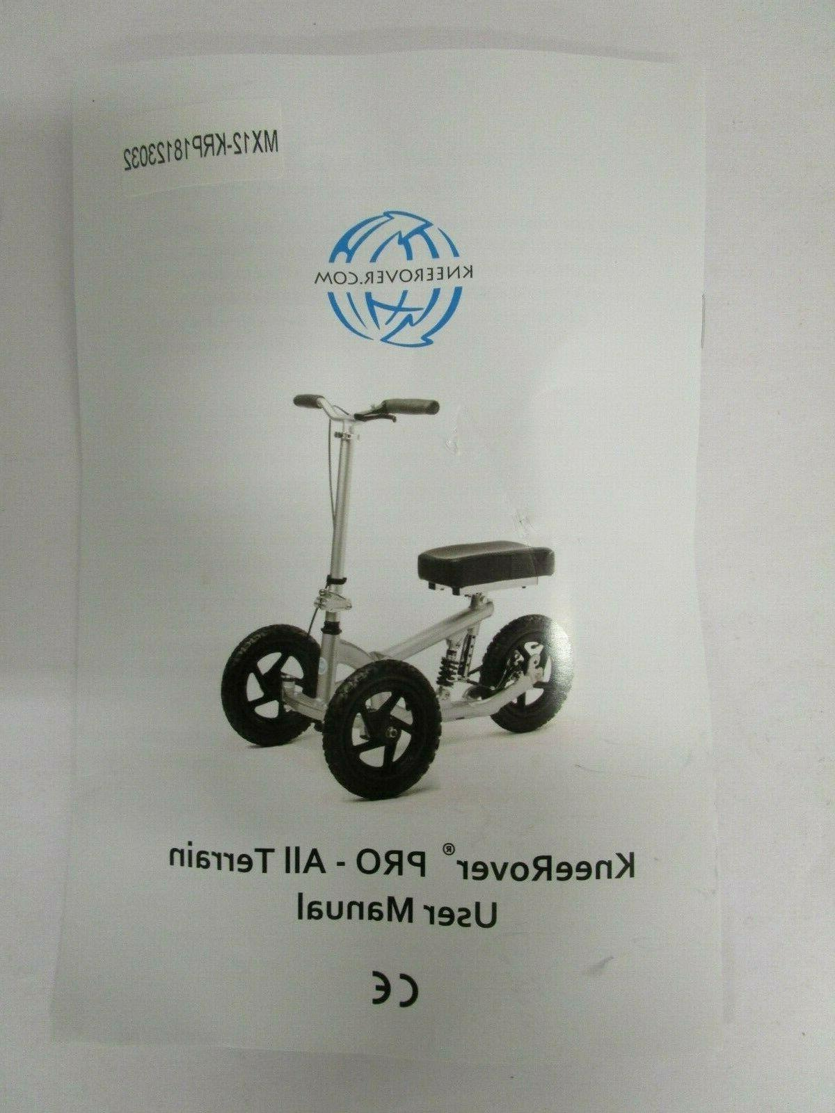 pro all terrain knee scooter maximize mobility