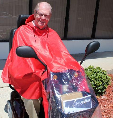 Challenger Mobility Rain Cape, Red