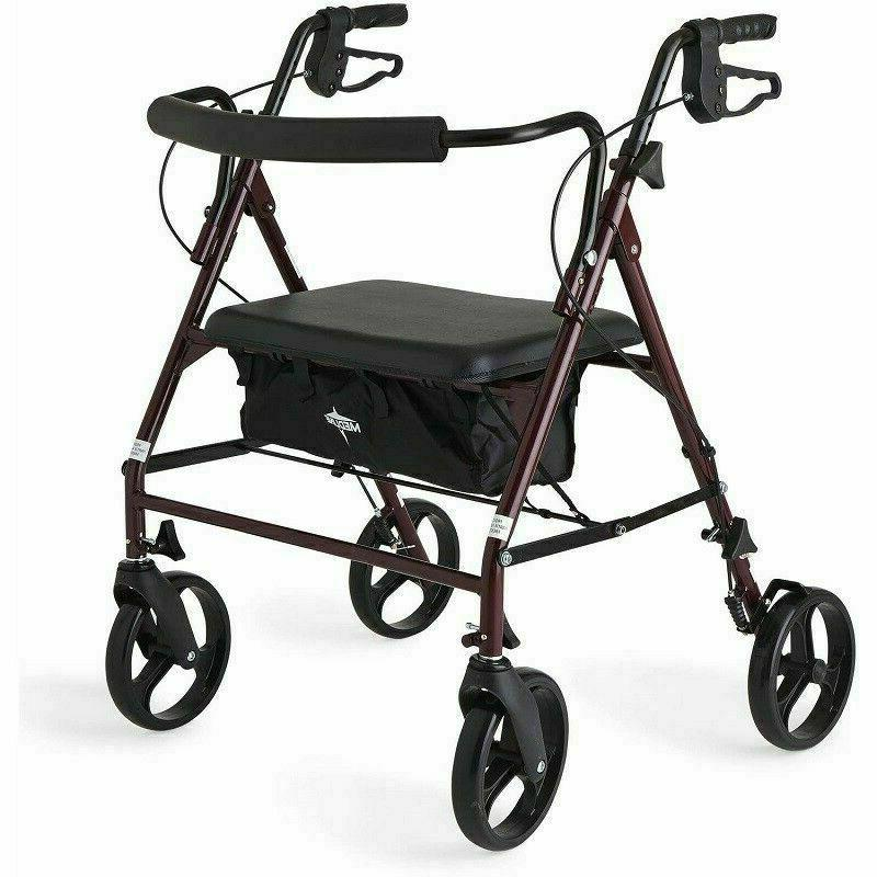 rollator walker bariatric extra wide mobility foldable