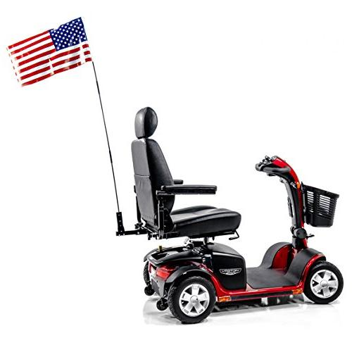 scooter patriotic safety flag assembly